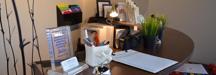 Chiropractic The Colony TX Reception Desk