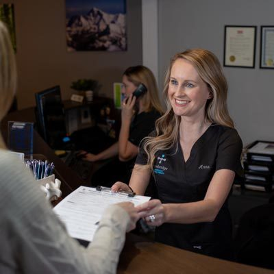 Chiropractic The Colony TX Receptionist Desk